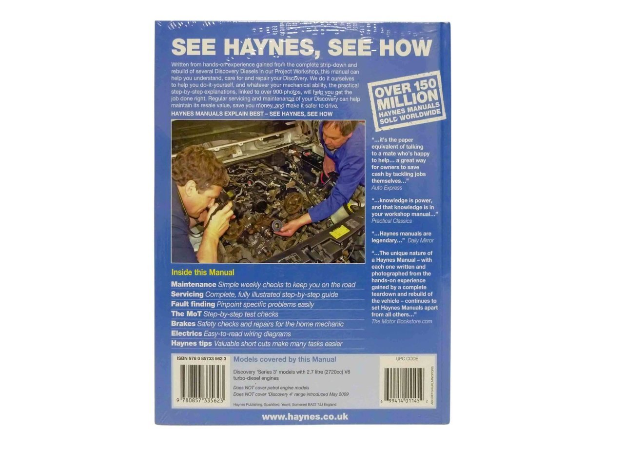 Haynes Workshop Manual Discovery 3
