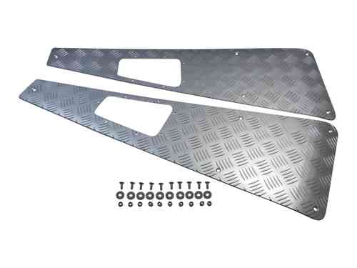 Terrafirma Guard Wing Top Chequer Plate Silver Anodised Defender WTKIT03A
