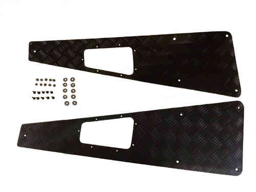 Terrafirma Wing Top Chequer Plate Black Powder Coat Finish Defender WTKIT03B