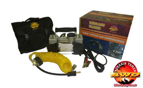 Terrain Tamer Twin Piston Air Compressor 75 Litres with Carry Bag