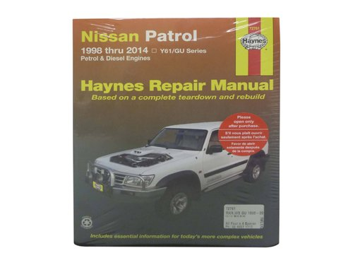 Haynes Workshop Manual for Nissan Patrol GU Y61 1998 to 2014 Petrol Diesel 72761