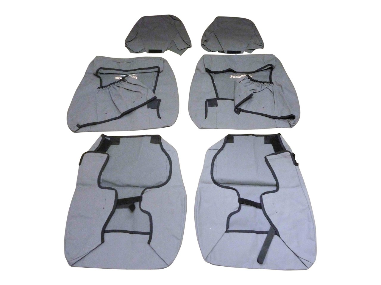 Tuff Seat Canvas Seat Covers Front Pair Landcruiser VDJ70