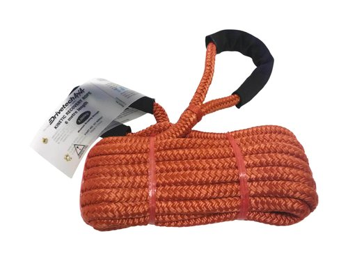 Drivetech 4x4 Kinetic Recovery Rope Extra Stretch 3 tonne 6m 1/2in x 20ft DTKRR01