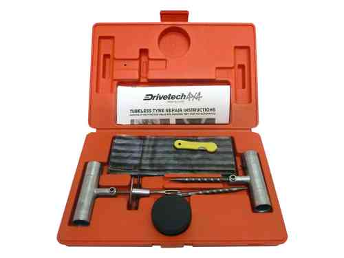 Drivetech Tubeless Tyre Puncture Repair Kit DRI-DT-4X4TRP