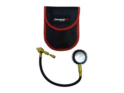 Drivetech Tyre Deflator with Gauge and Valve Core Retainer DRI-DT-DEFLATOR