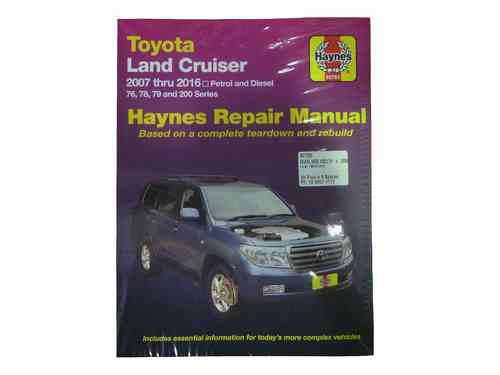 Haynes Workshop Manual for Landcruiser VDJ UZJ URJ 76 78 79 200 2007-2016 92753