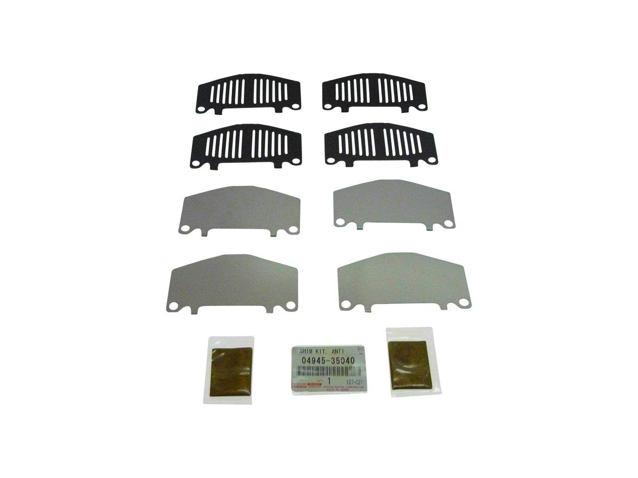 24c6cca667 Front Brake Disc Pad Shim Kit suitable for Prado Landcruiser 90-99