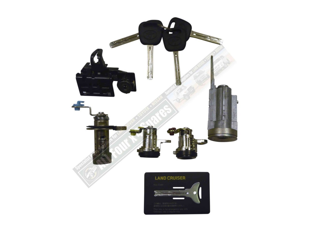 Complete Lock Amp Key Set Suitable For Landcruiser 80 Series