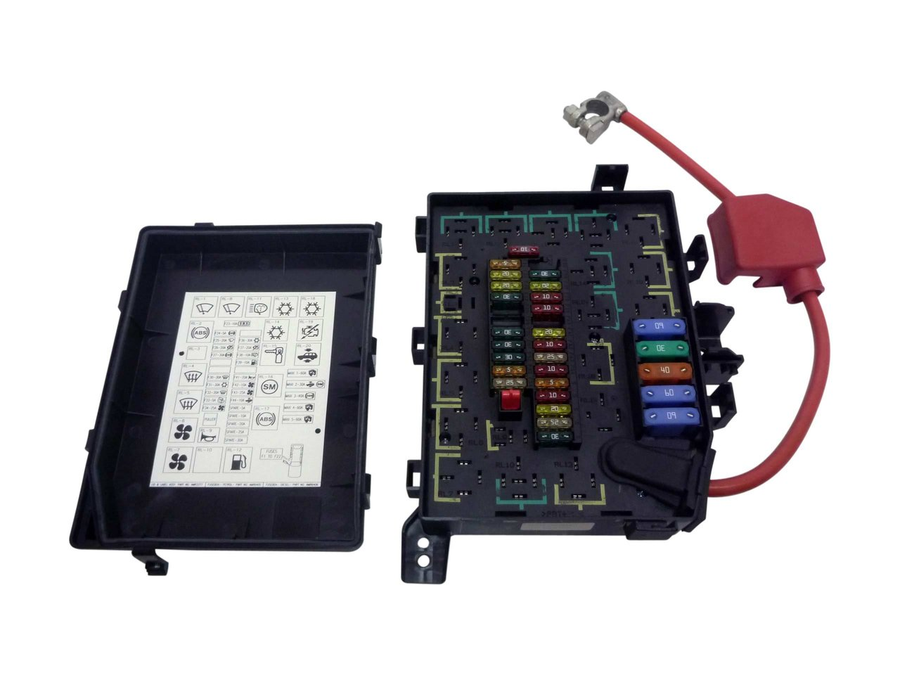 fuse box assembly for range rover p38 v8 1995-1998 new genuine 2008 range rover sport fuse box diagram