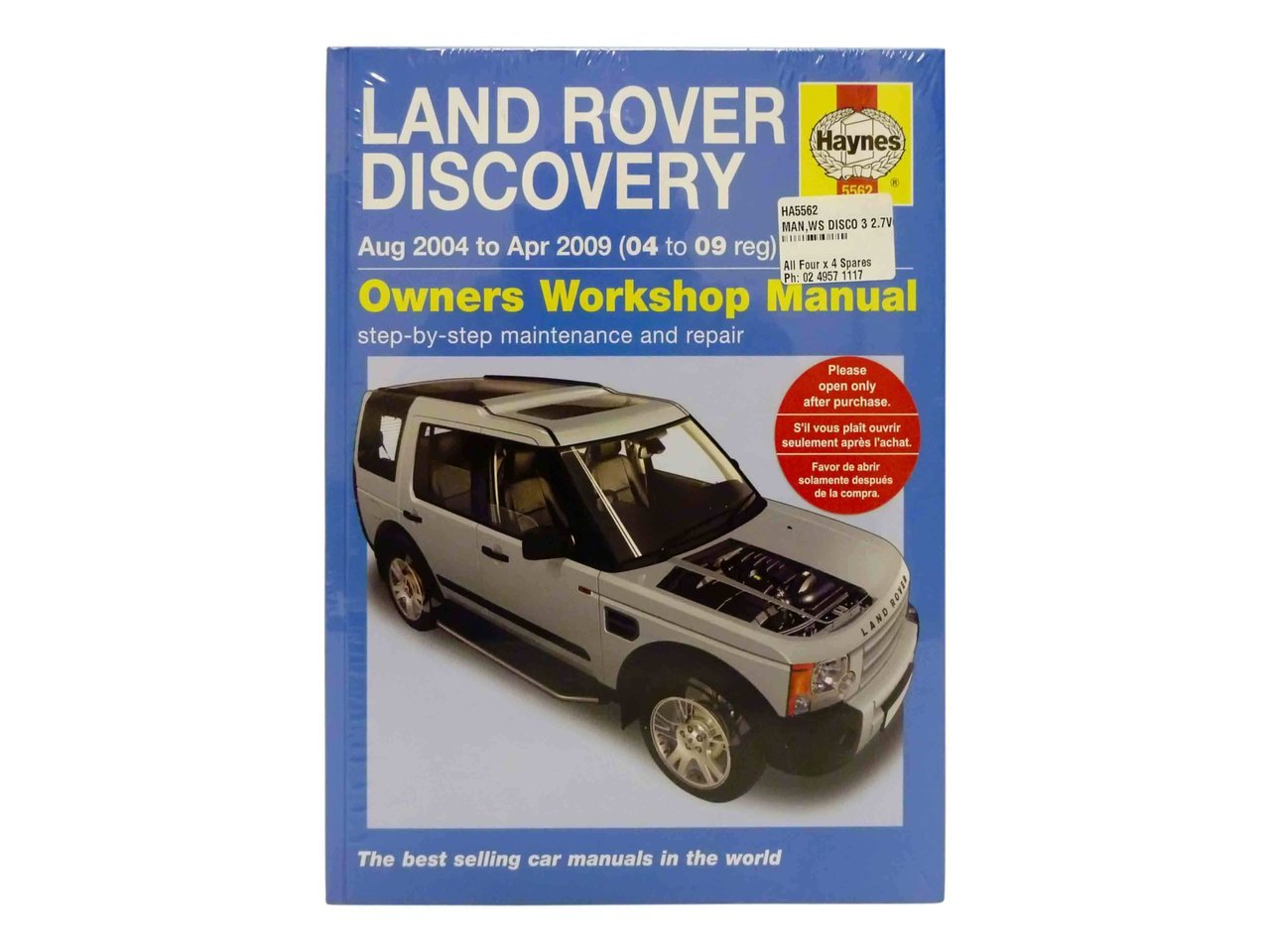 Haynes Workshop Manual Land Rover Discovery 3 27l Tdv6 2004 2009 Range Td6 Wiring Diagram