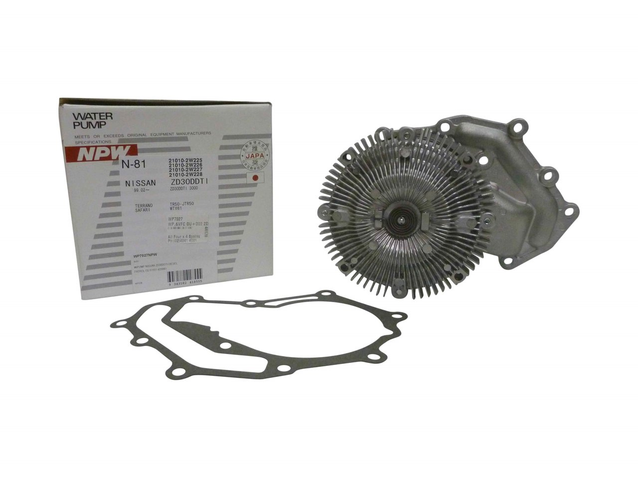 Water Pump Viscous Fan Clutch Suitable For D22 Navara Gu Patrol 1999 Isuzu Rodeo Zd30 3l Diesel