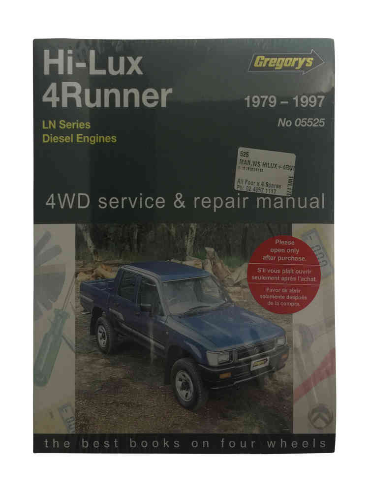 workshop manual suitable for hilux 4runner ln65 ln106 diesel rh allfourx4 com au ln106 service manual ln106 workshop manual pdf
