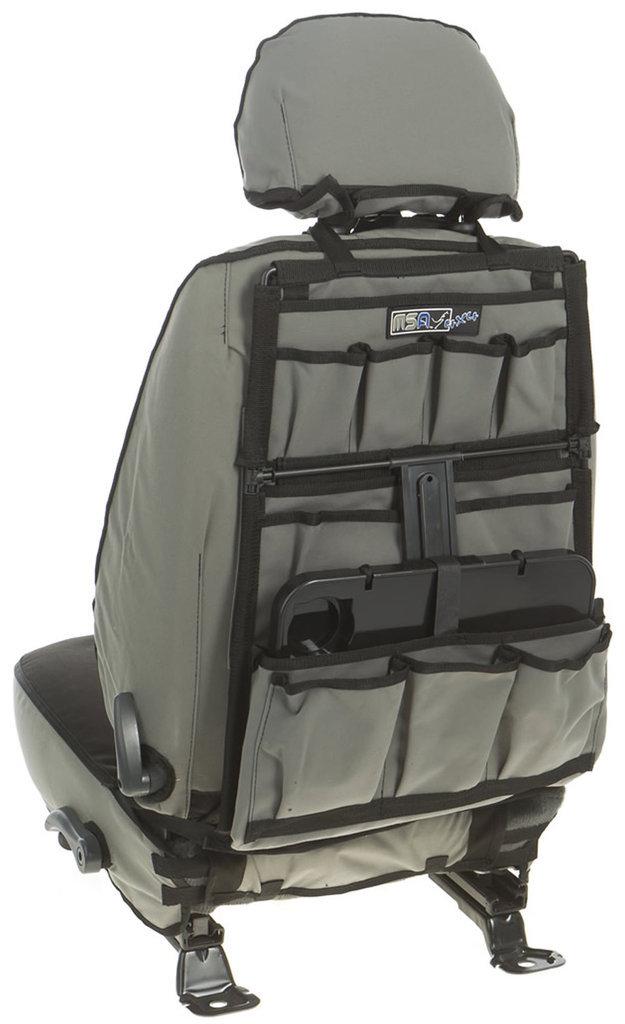 msa 4x4 accessories seat organiser drop down table msa 4x4 orgddt. Black Bedroom Furniture Sets. Home Design Ideas