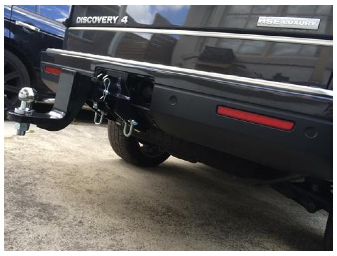 land product and rear landrover lock tow w key hitch trailer rover