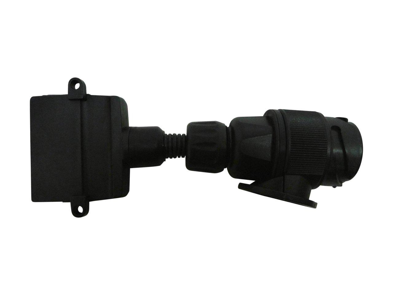 trailer adapter 13 pin round euro to 7 pin flat 82285bl, Wiring diagram