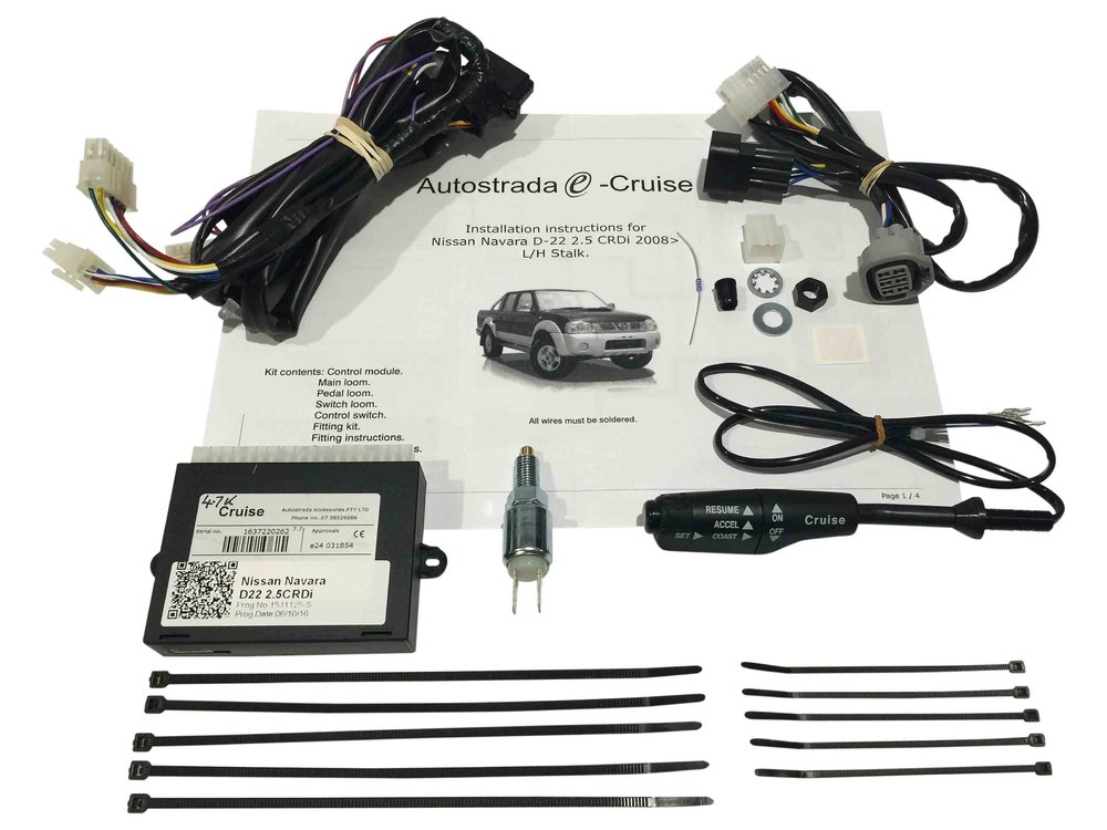 cruise control kit plug & play suitable for nissan navara d22 2 5l turbo  diesel 2006