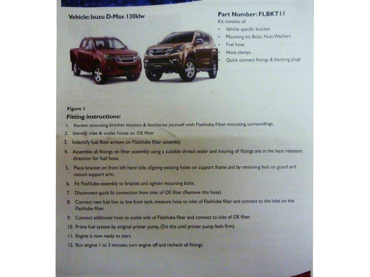 Fuel Filter Bracket Kit For Isuzu D Max 30l Turbo Diesel 2012 On 6 7 Powerstroke Pre Suitable 30 L