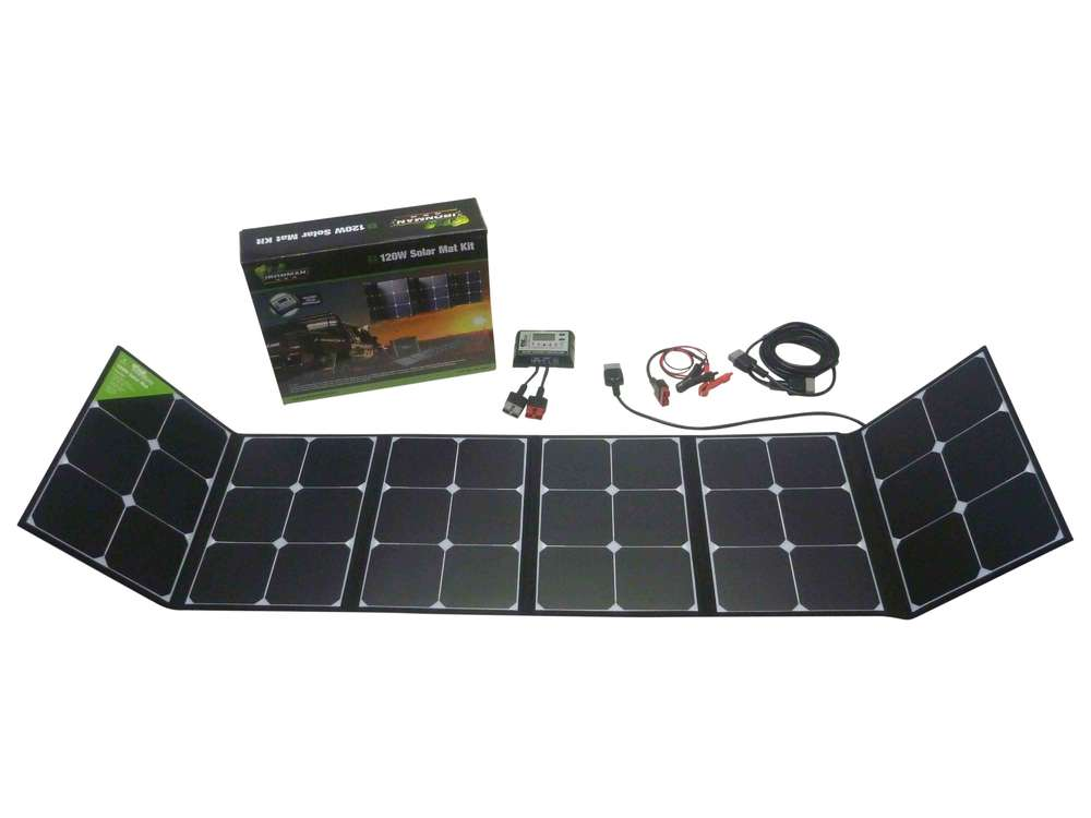 Ironman 4x4 Portable 12v 120w Solar Mat Kit Isolarmat