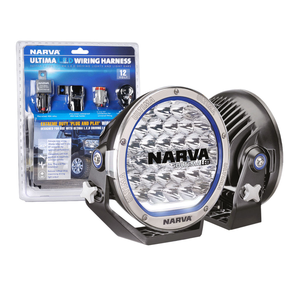 Narva Ultima LED 215 Driving Light Pair With Wiring Harness