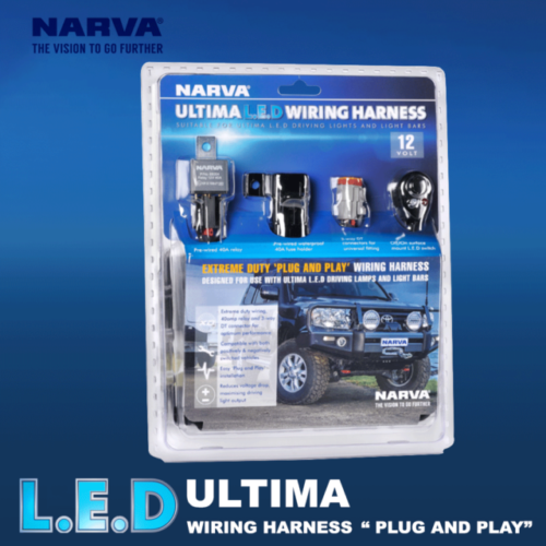 Narva Ultima LED 215 Driving Light Pair with Wiring Harness on