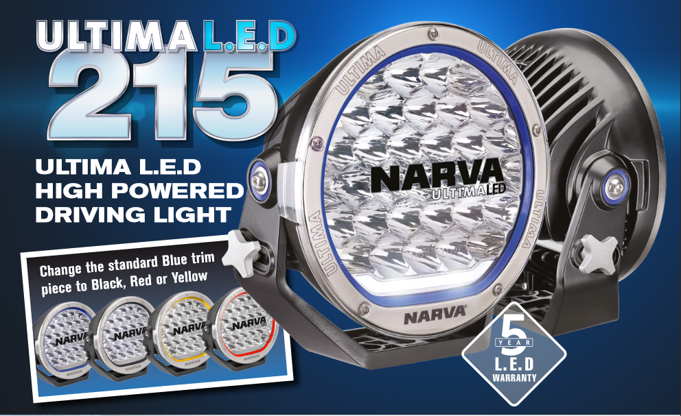 narva ultima led 215 driving light pair with wiring harness. Black Bedroom Furniture Sets. Home Design Ideas