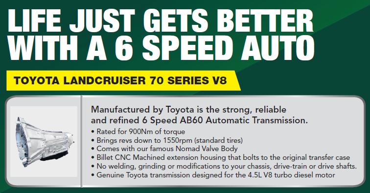Lancruiser 70 Series Auto Conversion
